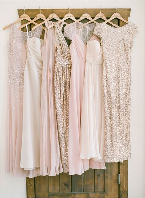 blush gold dresses